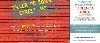 Taller de Equal Street Art en la biblioteca de Sarón del 22 de junio al 1 de julio