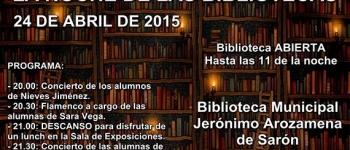 Día 24 de Abril. Noche de las Bibliotecas.