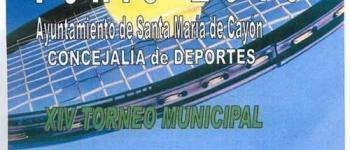 Torneo de Tenis 2010.Ayuntamiento de Santa María de Cayón.