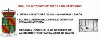 IX Torneo de Bolos para Veteranos.