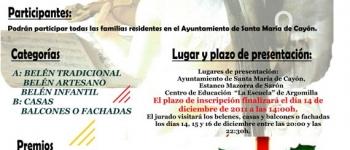 El plazo de inscripciones a los concursos de Belenes y Engalanamiento de Casas y Balcones del Ayuntamiento de Santa María de Cayón llega hasta el día 14 de Diciembre