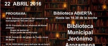La Noche de las Bibliotecas se celebrará este viernes 22 en la Biblioteca Municipal Jerónimo Arozamena