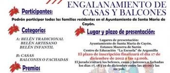 El plazo de inscripciones a los concursos de Belenes y Engalanamiento de Casas y Balcones llega hasta el día 17