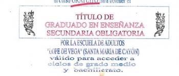 Título de Graduado en Enseñanza Secundaria Obligatoria