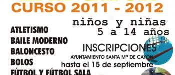 Abierto el plazo de inscripción en el curso 2011-2012 de las Escuelas Deportivas Municipales