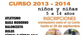 Abierto el plazo de inscripción de las Escuelas Deportivas Municipales para el curso 2013-2014