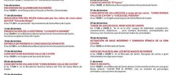 Actividades Navideñas 2015-2016, programadas por el Ayuntamiento de Santa María de Cayón