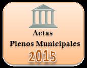 Actas de los Plenos Municipales. Año 2015