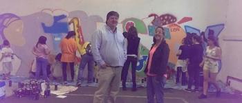 """""""Street Art"""", a través del programa Irene, en el Mercado de Sarón."""