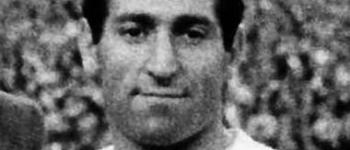 Paco Gento ya está en Cayón, con motivo del encuentro C.D. Cayón – Real Madrid Veteranos