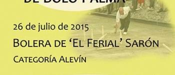 47º Campeonato Regional de Bolo Palma el próximo 26 de julio de 2015