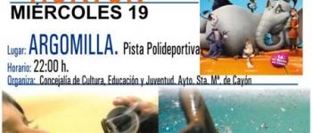 El Ayuntamiento de Santa María de Cayón continua con el Cine de Verano. Miércoles 19 de Agosto en la Pista Polideportiva de Argomilla.