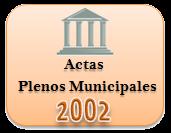 Actas de los Plenos Municipales. Año 2002