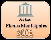 Actas de los Plenos Municipales. Año 2008