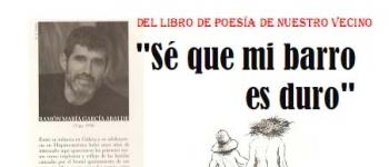 """Presentación del libro de poesía de nuestro vecino, Ramón María García Abalde.""""Se que mi barro es duro"""".4 de Junio de 2010, a las 20:00h en la Biblioteca Jerónimo Arozamena."""
