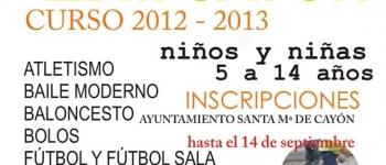 Abierto el plazo de inscripción de las Escuelas Deportivas Municipales hasta el 14 de septiembre