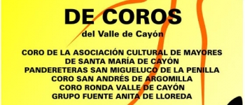 II Encuentro de Coros del Valle de Cayón,dentro del ciclo de Conciertos organizado porla Concejalía de Educación,Cultura y Juventud