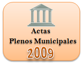 Actas de los Plenos Municipales. Año 2009