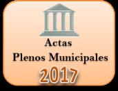 Actas de los Plenos Municipales. Año 2017