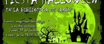 Ven a la Biblioteca de Sarón y diviertete en nuestra Fiesta Halloween el jueves, 31 de octubre a partir de las 18:00 h.