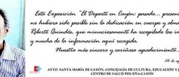 """El alcalde de Santa María de Cayón,D.Gastón Gómez inauguró la exposición """"El Deporte en Cayón: pasado...presente...futuro"""""""
