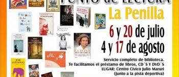 Punto de Lectura EL 20 de julio en La Penilla. Organizado por la Concejalía de Educación,Cultura y Juventud