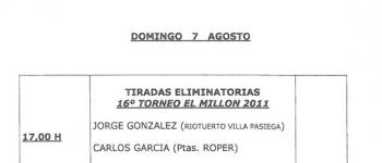 Tiradas Eliminatorias. 16ª Torneo El Millón 2011
