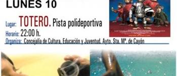 El Ayuntamiento de Santa María de Cayón continua con la programación del Cine de Verano.El 10 de Agosto en Totero, organizado por la Concejalía de Educación,Cultura y Juventud , se proyectará la película Misión Espacial.