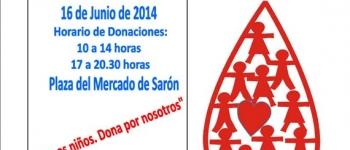 Si quieres donar sangre puedes hacerlo el próximo lunes, 16 de junio, en la Plaza del Mercado de Sarón.