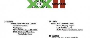 Programa de las XXII Jornadas de Cultura Valle de Cayón 2015