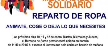 """REPARTO DE ROPA, MERCADILLO SOLIDARIO. """"ANÍMATE, COGE O DEJA LO QUE NECESITES"""""""