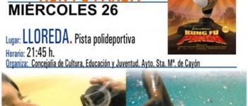 El Ayuntamiento de Santa María de Cayón continua con el Cine de Verano: Miércoles 26 de Agostoen la Pista Polideportiva de Lloreda