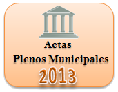 Actas de los Plenos Municipales. Año 2013