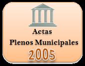 Actas de los Plenos Municipales. Año 2005