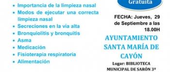 Charla gratuita sobre limpieza bronquial y prevención de eventos respiratorios en niños.