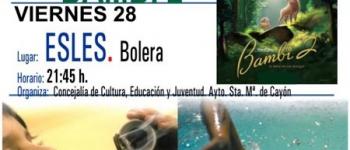 El Ayuntamiento de Santa María de Cayón continúa con la programación del Cine de Verano. El 28 de Agosto en Esles, organizado por la Concejalía de Cultura,Educación y Juventud , se proyectará la película Bambi 2.