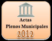 Actas de los Plenos Municipales. Año 2012