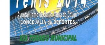 Participa en el XIX Torneo Municipal de Tenis que se celebrará del 15 al 30 de septiembre.