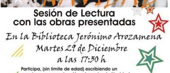 Cuéntanos tu Navidad. Sesión de Lectura con las obras presentadas.Organizado por la Concejalía de Cultura, Educación y Juventuddel Ayuntamiento de Santa María de Cayón