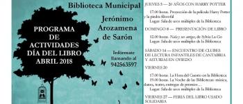 """Programa de actividades del """"Día del libro"""" para el mes de Abril."""