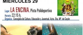 El Ayuntamiento de Santa María de Cayón continua con el Cine de Verano.Miércoles 29 de Julio en la Pista Polideportiva de La Encina.