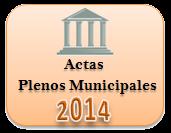 Actas de los Plenos Municipales. Año 2014