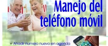 """Taller para mayores en el Aula de la Tercera Edad de Santa Mª de Cayón. """"Manejo del teléfono móvil"""""""