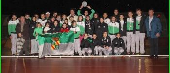 La Escuela de Atletismo de Cayón, subcampeona de Cantabria en la liga de menores de pista