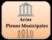 Actas de los Plenos Municipales. Año 2010